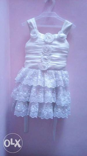 2-3 year Girl's One Yellow And One White Dresses