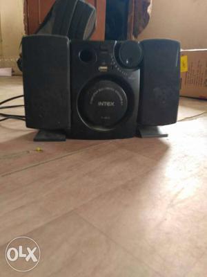 Black Intex 2.1 Multimedia Speaker