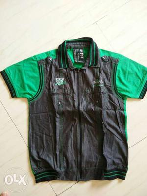 Brand New Casual T Shirt with Zip and Inner fix
