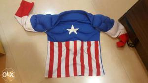 Captain America t-shirt with puffed up muscles