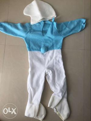 Smurf outfit for 1 to 1.5 years used only for one