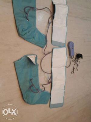 Air compression foot massager.