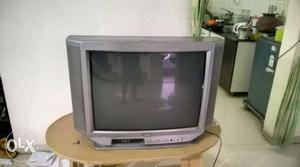 Gray  inches CRT TV. (Remote not available).