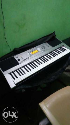 Grey And Black Electric Keyboard