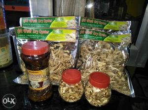 Mushroom pickle 150 net weight 500 gms dry oyster