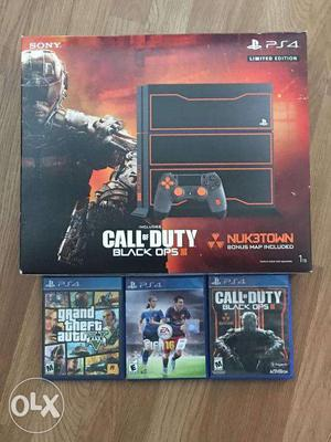 PlayStation 4 Black Ops3 Edition 1 TB+ 2extra free