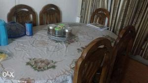 Dining table. 6×6 in good condition. Ply wood.