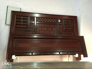 Teak wood double box bed posot class for Wooden attic box bed