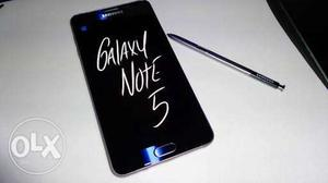 Samsung galaxy note 5, With box charger and