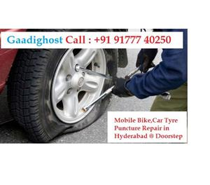 Mobile Tyre Puncture Repair in Hitech City Hyderabad