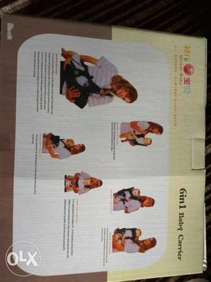 Unused brand new 6 in 1 baby carrier with box