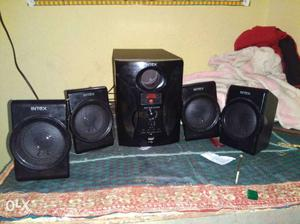 Black Intex Subwoofer Box Speakers