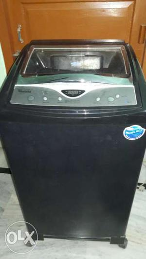 Full Automatic Black And Gray Whirlpool Top Load Washing
