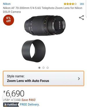 Nikkor mm zoom lens Non-VR. 2Years Warranty. Lens hood