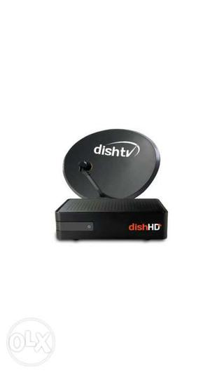 Dish tv HD+Rec. unlimited & All Accessories Only