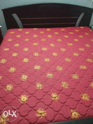 King Size Cot and Mattress available for sale.