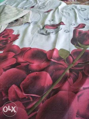 Red And White Rose Textile