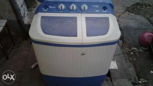 White And Blue All In One Plastic Portable Washer And Dryer
