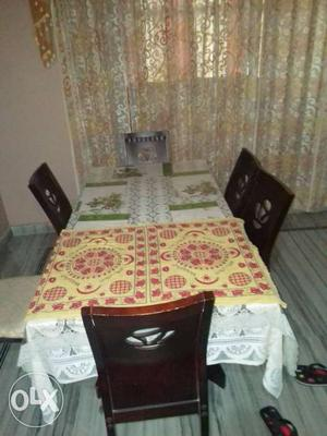 White, And Green Table Cloth