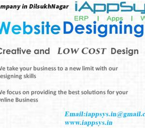 Web Designing at iAppSys Technologies,Dilsuknagar Hyderabad