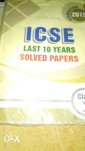 10 yrs solved papers book ICSE
