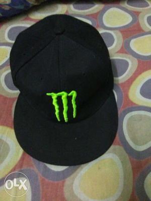 Black Monster Energy Fitted Cap