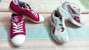 Original two pairs of reebok shoes canvas and