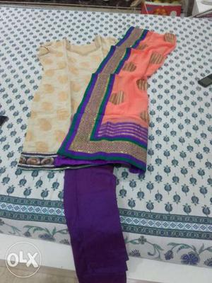 Sober colour ready to wear dress...