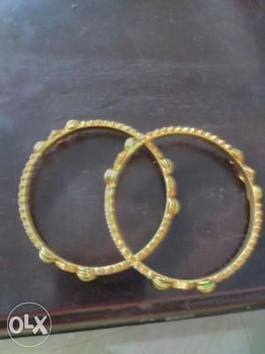 Women's Two Gold Bangle Bracelets