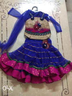 4 pc Party Wear Lehnga for 1-2 yr kid