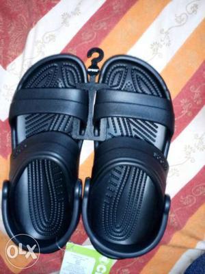 Crocs black sandals for sale brand new unused UK size 4