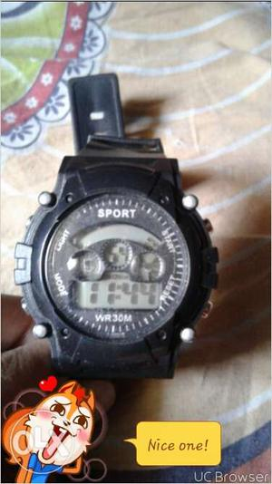 Sports company watch in good condition black