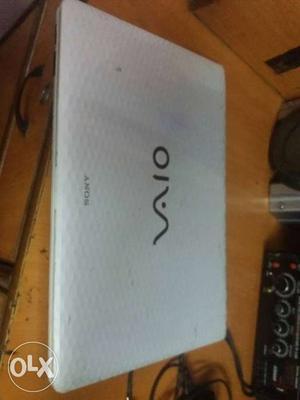 White Sony Vaio Laptop