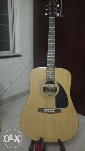 Brown Fender semi Acoustic Guitar