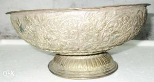 Antique copper mughal time big size vegetable and fruit bowl