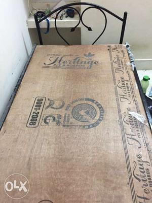 Brand New Iron Cot 3 x 6 - used only for 3 months