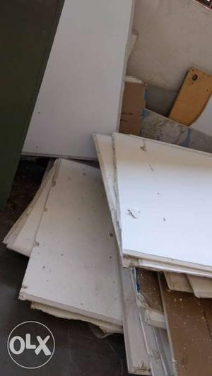Gypsum board with Stainless Steel & wood Frames