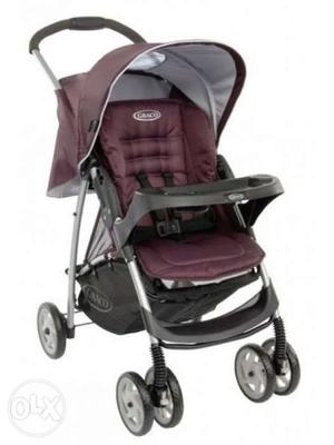 Red And Black Graco Stroller
