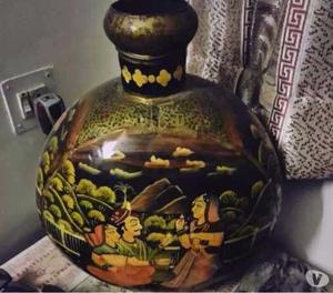 Beautiful hand painted iron vase Jodhpur