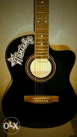 Black And Brown Tanishq Cutaway Acoustic Guitar