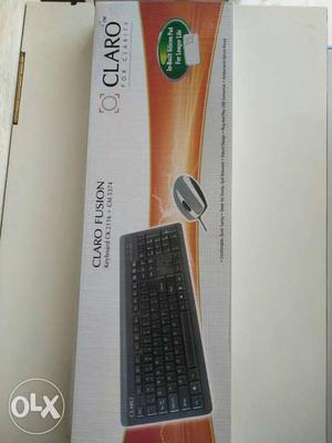 Claro USB Keyboard-Mouse Combo Set, Not Used.