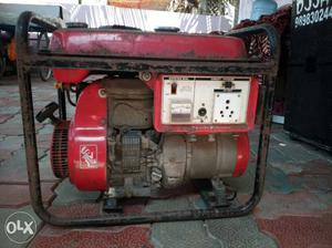 Red And Black Electric Generator