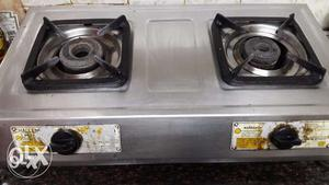 2 burnor stainless steel gas stove...heavy steel