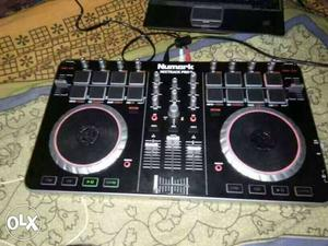 Black And Grey Numark DJ Controller