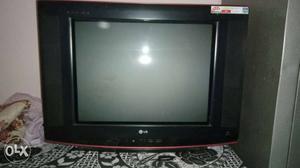 Black LG Widescreen CRT TV