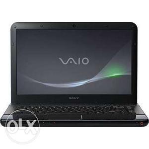 Black Sony Vaio Laptop