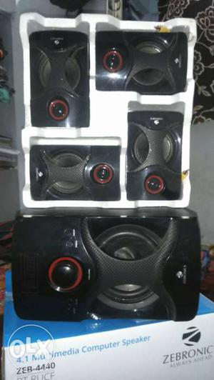 Black Zebronic 4.1 Multimedia Computer Speaker In Box