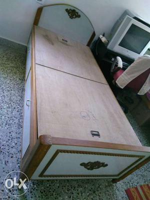 Box type Cot having pure teak-wood frame and