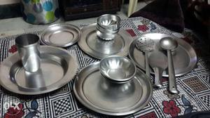 Kitchen utensils steel bartan posot class for Kitchen set bartan