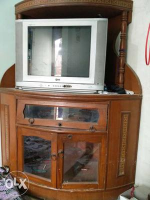 Lg Tv with a corner tv cabinet(trolley)